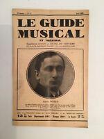El Guía Musical Suplemento Mensual A de La Concierto Albert Deans N º 7 1929