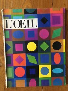 """revue d'art """"L'Oeil"""" numero 90 juin 1962"""