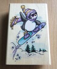Stampendous ~ P052 Snowboard Penguin ~ Q8