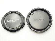 Minolta Genuine Front Lens Cap Alpha AF LF-1055 55mm Rear Lens Cap LR-1000 1pair
