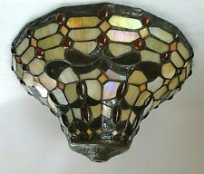 Tiffany Style Stained Glass Ceiling Mount Bronze Light Fixture Model #23173-43CL