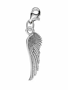 Sterling Silver 925 Guard Angel Wing Clip on Charm For Charms Bracelet C1C