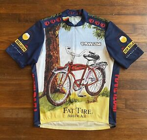 """Pearl Izumi Fat Tire Cycling Jersey 3/4 Zip New Belgium Brewing Beer L 47"""" CHEST"""