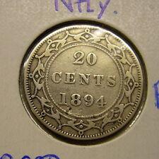 1894 Newfoundland 20 Cent Silver Coin