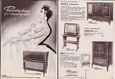 alter Prospekt PAWERPHON um 1955/60 Bild- und Tonmöbel, Konzerttruhen     ( 4690