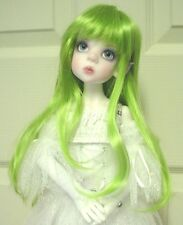 """Doll Wig, Monique Gold """"Faith"""" Size 6/7, LIME GREEN (Modeled in another size)"""