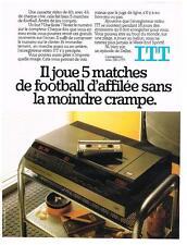 PUBLICITE ADVERTISING   1982   ITT     enregistreur vidéo