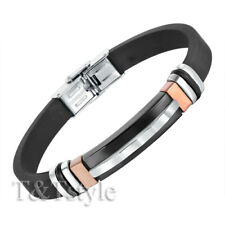 UNIQUE T&T Stainless Steel ID Bangle Rose Gold  (BR44)