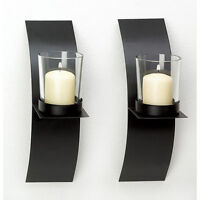 NEW Modern Wall Sconce Candle Holder Set of TWO