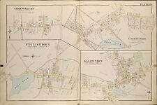 1889 ENGLISHTOWN, SHREWSBURY FARMINGDALE ALLENTOWN MONMOUTH NEW JERSEY ATLAS MAP