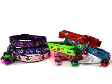 Small Cute pink blue red Colourful Pet Bell Collars for Dogs, Cats, Puppies