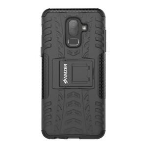 AMZER Black Dual layer Warrior Hybrid Protective Case for Samsung Galaxy J8 2018
