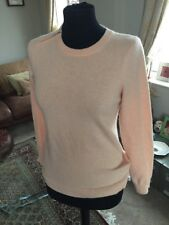 Peachy Pink Pure Cashmere Whistles Jumper Top