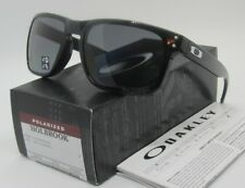 OAKLEY polished black/grey POLARIZED HOLBROOK OO9102-02 sunglasses! NEW IN BOX!