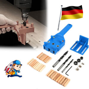 Holzbearbeitung Dübel Bohrschablone Handheld Bohrloch Jig Bohrlehre Bohrhilfe