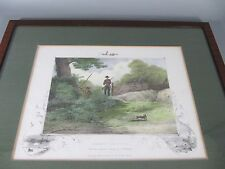 Rabbit Shooting Lithographie from the Original Painting by C.H. Weigall ca. 1863