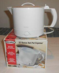 RIVAL Hot Pot Express White Electric Kettle 32oz Model 4071