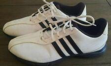 Adidas Men's Golf Golflite Grind 2.0 White Black Spike Shoes Size 10.5
