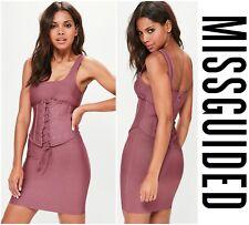 MISSGUIDED  SEXY  CORSET  BANDAGE  BODYCON  MINI  DRESS  Sz 4  UK 8  NWT