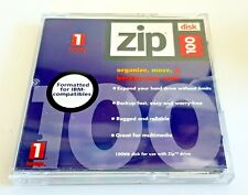 ZIP DISK 100MB Floppy Blank Storage Media -iomega brand new