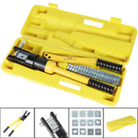 Hydraulic Crimper Crimping Tool Wire Battery Cable Lug Terminal 16 Ton UK
