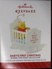 NIB 2014 HALLMARK ORNAMENT BABY'S FIRST CHRISTMAS WINNIE THE POOH COLLECTION