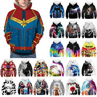Kids Boys Girls Funny Graphic 3D Print Hoodies Sweatshirt Pullover Tops Clothes