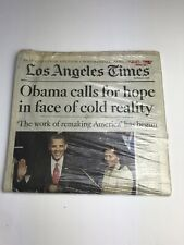 Los Angeles Times January 29, 2009 Obama Inauguration Edition Wrapped