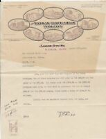 U.S. The Kansas Flour Mills Company Wichita 1913 Illustrated Invoice Ref 43585