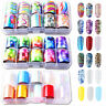 10Pcs Holographic Nail Foil Set Transparent Starry Sky Nail Art Transfer Sticker