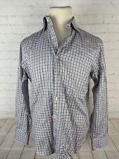 Saks 5th Ave Men's Blue Plaid Dress Shirt 15 32/33 $125