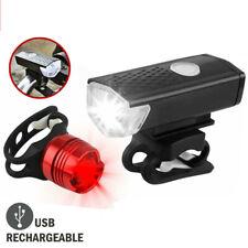 LED Fahrradbeleuchtung Set Fahrradlicht USB Fahrad Scheinwerfer Rücklicht