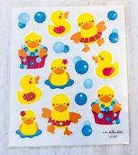 2 Sheets Rubber Ducky Duck Stickers Planner Papercraft Scrapbook Baby Shower