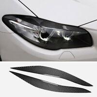 Carbon Fiber Headlight Eyebrow Eyelid Cover Trim For BMW 3 Series F10 2010-2013