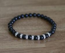 Bracelet with natural Black Onyx gemstones