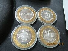 Casino $10 Silver Strikes Lot of 4  Mirage  Ballys  Flamingo  Aladdin  All for 1