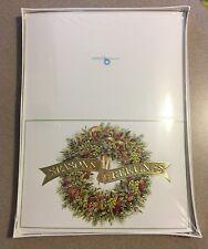 Vintage Century Regency Greetings 45 Christmas Cards Envelopes Wreath