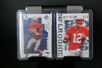 Tom Brady Rookie cards. 2000 SP Authentic, 2000 Black Diamond. Read Description.
