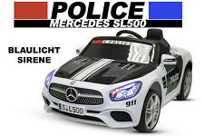 Lizenz Kinder Elektro Auto Mercedes-Benz SL500 Polizei 2x35W Bluetooth