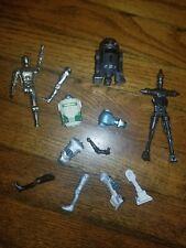 """Star Wars 3.75"""" Droid Lot - Astromech Legacy Build a Droid Parts Vintage"""