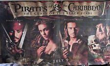 HUGE PIRATES OF THE CARIBBEAN CANVAS MOVIE POSTER THE CURSE OF THE BLACK PEARL