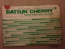 Collectable Car DATSUN CHERRY Owner's Manual MODEL N10 SERIES 1979 NISSAN