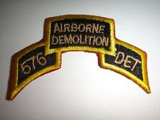 US Army 576th Engineer Detachment AIRBORNE DEMOLITION Scroll Patch