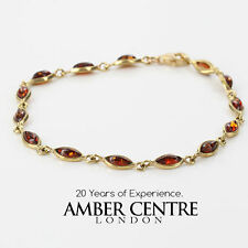 ITALIAN MADE BALTIC AMBER BRACELET IN 9CT GOLD -GBR049 RRP£275!!!