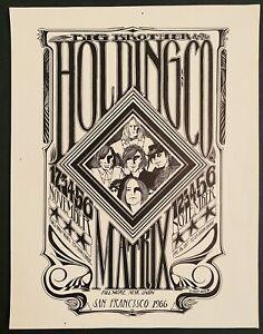 BIG BROTHER JANIS JOPLIN MATRIX SF 1966 MOUSE ORIGINAL HANDBILL AOR 2.111 Nice!
