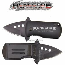Renegade Small Tactical Assisted Opening Knife w/ Pocket Clip RT124 *NEW*