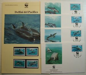 1993 Niue 4 Covers And Cards Wwf Series Dolphins