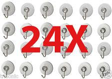 24 x Transparent Suction Cup Sucker For Window Wall Hook Hanger Kitchen Bathroom