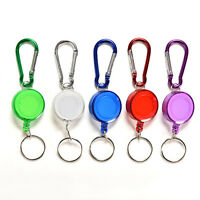 2X Colourful Retractable Strap Carabiner Clips Card Label Key Chain Fancy FU