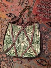 Juicy Couture Chain Purse Leather Hello Velour Green Heart Purse Bag Handbag
